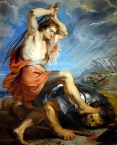 David Slaying Goliath Peter Paul Rubens, 1630
