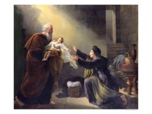 Elijah Returns Dead Son