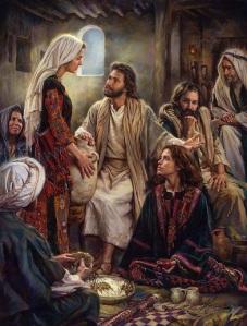 Jesus Mary Martha