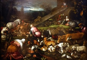 Building Noah's Ark Francesco Bassano, 1670